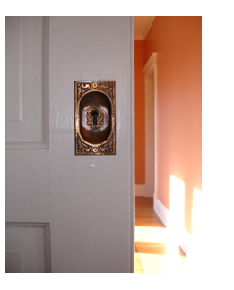 Whenever possible, original hardware is saved and reused in NNN Homes.