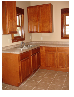 Standard in NNN Homes are new kitches with ceramic tile floors, excellent quality cabinets and attractve countertops